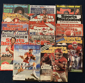 Oklahoma Sooners Sports Illustrated Covers Lot Of 14 Baker Mayfield Sam Bradford