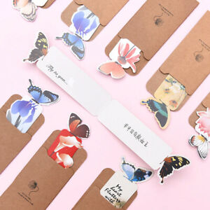 4 pcs Butterfly Shape Bookmark Creative Stationery Retro Cute Decorative 3D