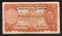 Australia R-13. (1942) 10 Shillings - Armitage/McFarlane.. VG-F