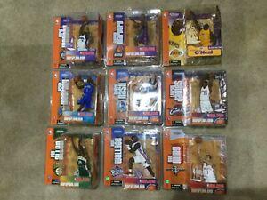 9 Action Figure Case McFarlane NBA Basketball Series 5. James Shaq, Allen, ....