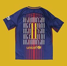 Sz Large Neymar Jr Nike FC Barcelona Home Jersey 2017 - 2018 EXCLUSIVE, 40 made