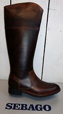 Ladies Sebago Nashboa Rider Brown Leather Knee High Boots