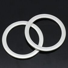 5 Large CIRCLE RING Silver Tone Metal Charm Link Connectors 33mm CHS0023