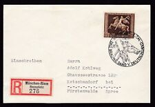 Germany 1938 Brown Ribbon used on Reg cover Munich Special Cancel horses