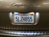 White LED Bulbs License Plate Light Lamps For Porsche Cayenne VW Touareg 2