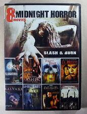 Midnight Horror 8 Movie Pack - Slash & Burn - 2 Disc DVD Set - Brand New