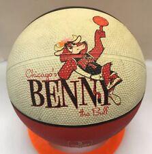 Chicago Bulls NBA Benny The Bull Mini Basketball Ball Black White Red Arena Excl