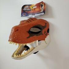 Jurassic World Velociraptor Tiger Legacy Orange Dinosaur Dino Rival Mask New
