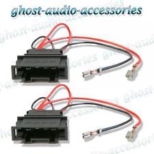 Volkswagen Passat 2001 - 2005 Speaker Adaptor Plug Leads Connector Cable Pair