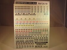 DECALS 1/24 LOGOS VOITURES ANGLAISES - COLORADO  2418