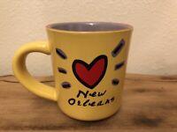 LUKE-A-TUKE, 'NEW ORLEANS THE BIG EASY', BRIGHT YELLOW, 8 FL OZ, COFFEE/TEA MUG