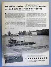 1950 Caterpillar Tractor Ad Photo Endorsed D2 Lee Rinker, Walkerton, Indiana