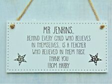 Male Teacher Gifts Personalised Plaque Pre School Nursery Thank You Leaving Mr