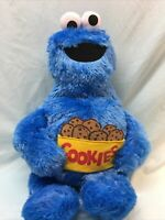 "Sesame Street FuRyu Cookie Monster Plush New w/ Tags Approx 20"" (D4)"