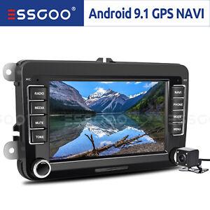 "7"" Car Stereo GPS Navi Android 9.1 RDS +Camera For VW GOLF 5 V PASSAT Touran EOS"