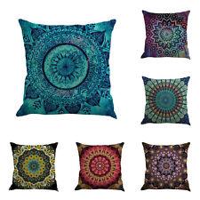 Vintage Geometry Cotton Linen Throw Pillow Case Sofa Cushion Cover Home Decor AU