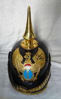 Deutscher Pickelhaube Preußischer Helm Garde Lederhelm