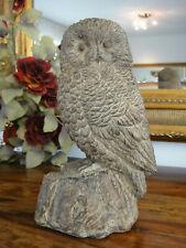Gentil Deko Figur Eule Skulptur Statue Kauz Uhu Holz Optik Gartenfigur Wald Vogel  NEU