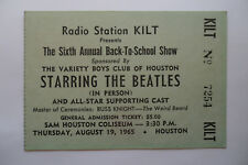 THE BEATLES Original__1965__CONCERT TICKET STUB__Houston__EX+