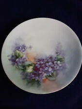 "Nice Vintage Buchanan Studio Hand Decorated Violet 6"" Plate w/ Silesia Stamp"