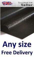 Non-Slip FINE Ribbed Garage Workshop Rubber Flooring Matting 1.2 mtr wide x 3mm
