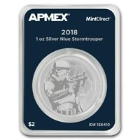 Niue 2 $ Star Wars Stormtrooper 2018 1 oz 999 Silbermünze in Mintdirect Slap