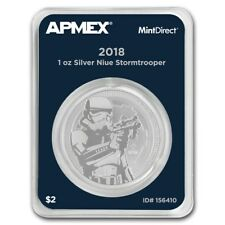 Niue 2 $ Star Wars Stormtrooper 2018 1 oz 999 Silbermünze in Mintdirect Slap