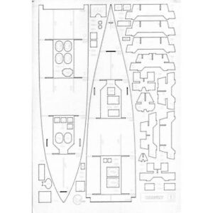 LASER CUTTING FOR MILITARY FLEET ARMORED CRUISER CLASS 1 CHANZY 1/200 OREL 111/2