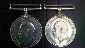WWI British War Silver Medal 1914 1918 LEWIS MANSER