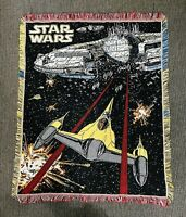 """Vintage 2000 The Northwest Company 45""""x55"""" Star Wars Tapestry Throw Blanket RARE"""