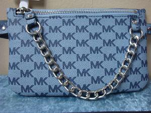 MICHAEL KORS Belt Bag Wallet ~Blue/Gray~Size XL~NEW!!!