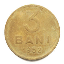 1952 People's Republic of Romania 3 Bani Coin in Uncirculated Condition. KM# 82.