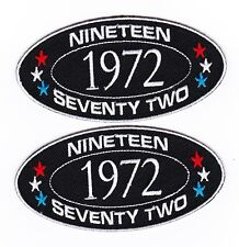 1972 SEW/IRON ON PATCH EMBROIDERED BADGE EMBLEM CHEVROLET FORD DODGE PONTIAC