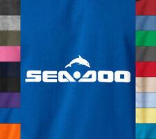 SEA DOO Logo T-Shirt Watercraft Jet Ski Boats Seadoo Speedster Soft Cotton Tee