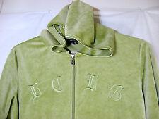 BCBG Max Azria Velour Hoodie Jacket Size 2XL Womens Green Zip Front
