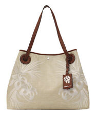 06c461c1e NWT Tommy Bahama Waikiki Embroidered Canvas Tote, Ivory Color MSRP: $148.00