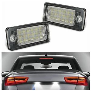 2pc Audi A1 A3 A4 S4 A5 Q5 A6 A7 LED Licence Number Plate Light White Error Free