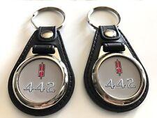Oldsmobile 442 keychain set 2 pack Grey 1966 1967 1968 1969 ect 4-2-2
