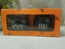 """NEW"" Rae Dunn by Magenta Halloween ""BOO! & EEK!""  Salt & Pepper Shakers"