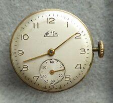 Gents Arnex watch movement, 15 jewels, running fast, 28 mm diameter.