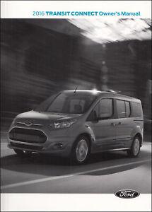 2016 Ford Transit Conectar Propietario Manual Furgoneta Operador Usuario