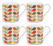 Set of 4 Orla Kiely Ten Stem Fine Bone China Mug - 250ml