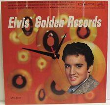 ELVIS PRESLEY*GOLDEN RECORDS**VINTAGE ALBUM COVER CLOCK!** GREAT GIFT!!