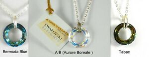 Necklace Day Collar 925 Sterling Silver Swarovski Cosmic Crystal Infinity Colors