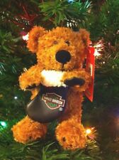 Harley Davidson Bear Ornament Biker Club Holiday Rider III 7in with Stocking New
