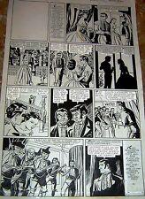 "1954 JOSE GRAU HERNANADEZ ""CURRO BRAVO"" DIBUJO ORIGINAL ART PAGE COMIC ARGENTINA"