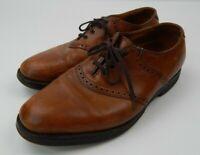 Men's 9 1/2 D Allen Edmonds Comb Oxford Leather black shoes Vibram Gumlite Sole