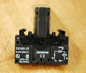 Siemens 3SB3-400-1PE Integrated LED Lamp Holder 3SB34001PE - NEW