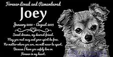 Personalized Long Haired Chihuahua Pet Memorial 12x6 Headstone Hair Longhaired