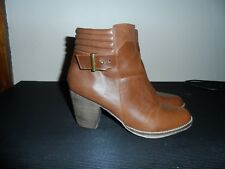 Chelsea Crew brown heel ankle boots size 9 / 40